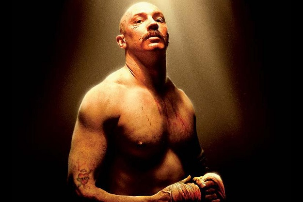Image of: Tom Hardy in his role as Charles Bronson, big and bulky.