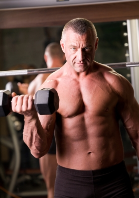 Image of middle-aged body builder, for whom the best testosterone booster might be beneficial